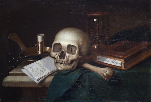 Vanitas 'Last will & Testament'- English school of the 17th century