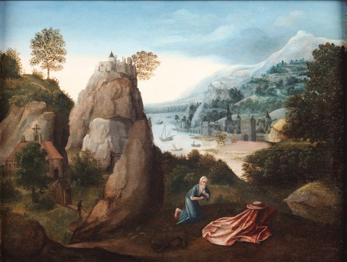 Attributed to Joachim Patinir (1483- 1524) - The penitent St Jerome