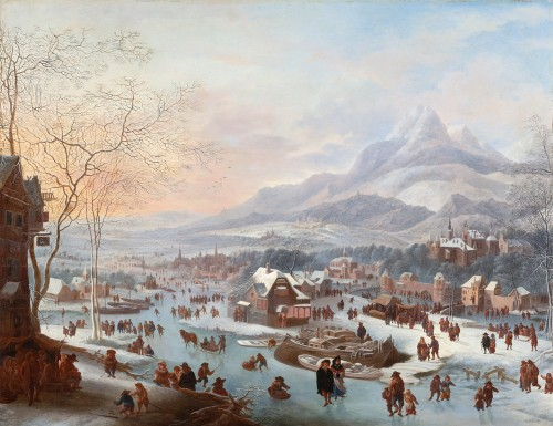 Robert Griffier (1675-1727) Merry making on the ice
