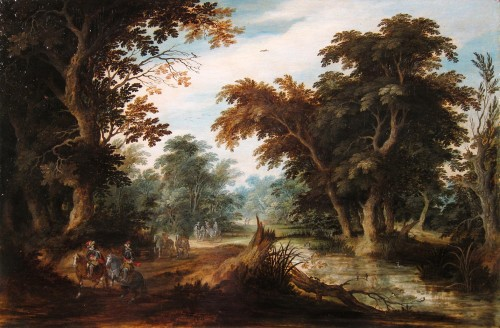 Alexander Keirincx (1600-1652) - landscape with horsemen