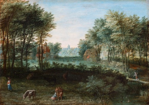 Animated Landscape - Flemish School of the 17th Century, by Pieter Gysels