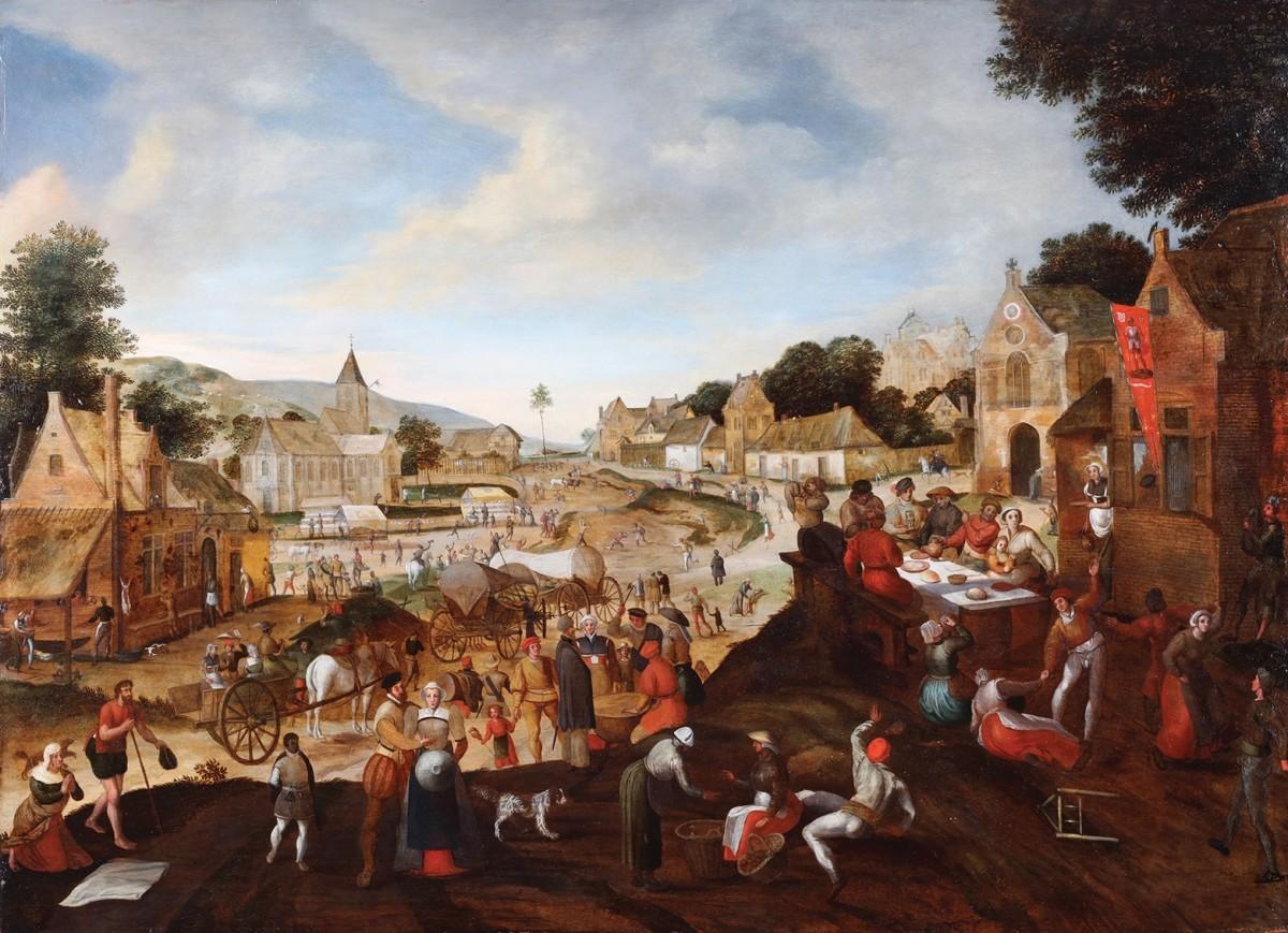 Gillis Mostaert (1534-1598) - Village Feast
