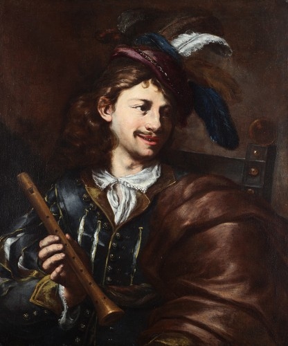 The Flute Player - Italian School of the 17th Century