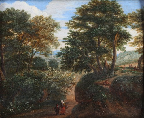 Lively Landscape - Flemish School of the 17th Century