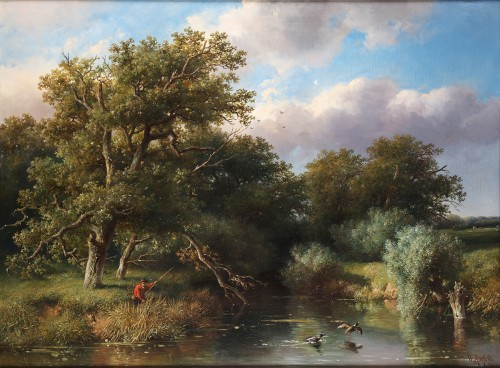 The duck hunter - Willem Roelofs (1822 -1897)