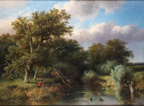 The duck hunter - Willem Roelofs (1822 -1897)