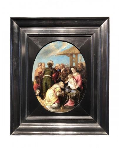 Adoration of the Magi - circle of  de Frans Francken II