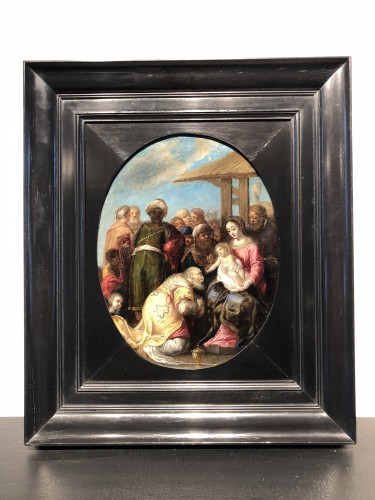 Adoration of the Magi - circle of  de Frans Francken II - Paintings & Drawings Style