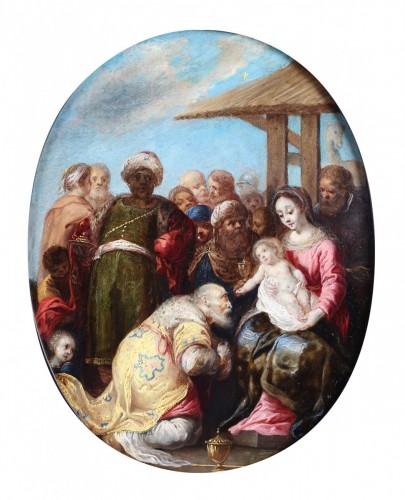 Adoration of the Magi - circle of  de Frans Francken II -