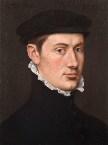 Portrait of a man dated 1557