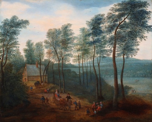Animated Landscape - Flemish School, Follower of Brueghel II
