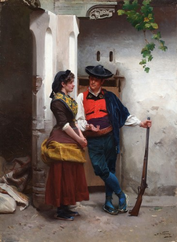 The temptation - Jules Worms (1832-1924)