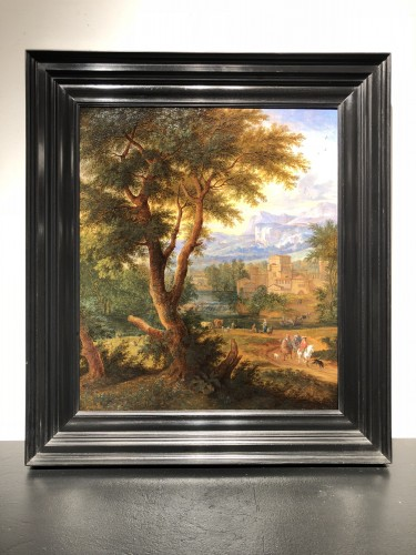 Landscape animated by Boudewijns and Pieter Bout - Paintings & Drawings Style