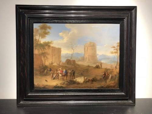 Animated Landscape - Matthijs Schoevaerts (Brussels 1665-1702) -