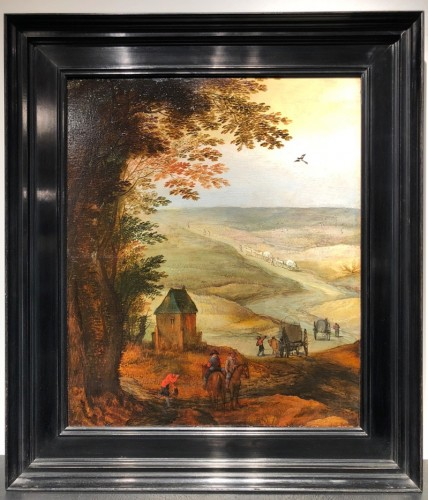 Animated Landscape - Circle of Joost by Momper and Jan Breughel II - Paintings & Drawings Style