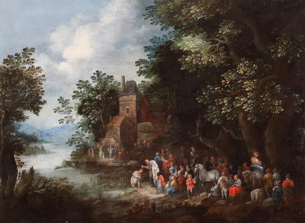 The Baptism By Johannes Jakob Hartmann 1658 1730 Ref 71817