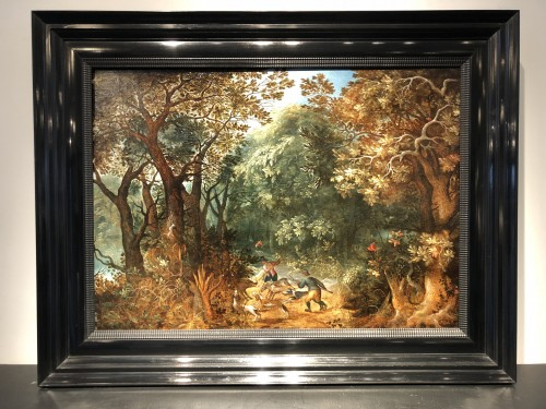 Abraham Govaerts (1589 - 1626) - Wild boar hunting - Paintings & Drawings Style
