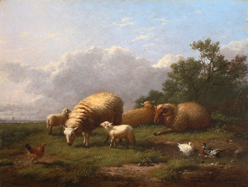 Pair of paintings - Eugène Verboeckhoven (1798-1881)