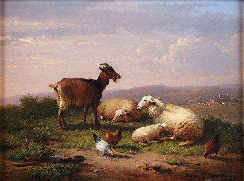 Pair of paintings - Eugène Verboeckhoven (1798-1881) - Paintings & Drawings Style