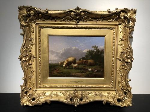 Paintings & Drawings  - Pair of paintings - Eugène Verboeckhoven (1798-1881)