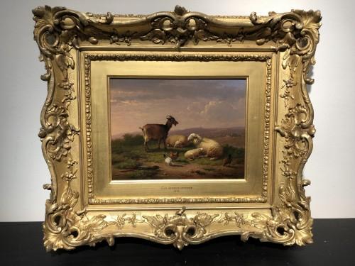 Pair of paintings - Eugène Verboeckhoven (1798-1881) -