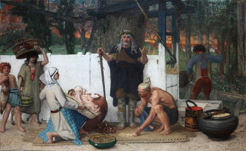 Louis Delbeke (1821-1891) - The Druid