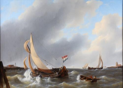 Petrus Johannes Schotel (1808-1865) - Marine painting