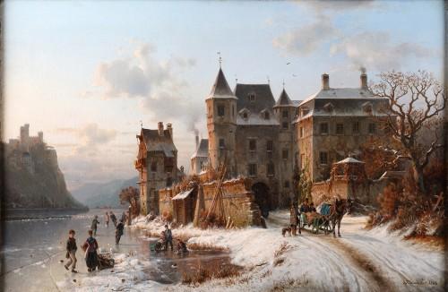 Johannes Bartholomeus Duntze (1825-1895) - Ice skaters