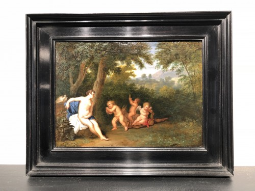 Diana with cupids - Attributed to Adriaen Frans Boudewijns for landscapes -