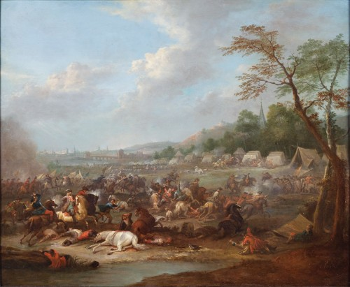 Pair of battle scenes - Karel Breydel (1678 -1744)