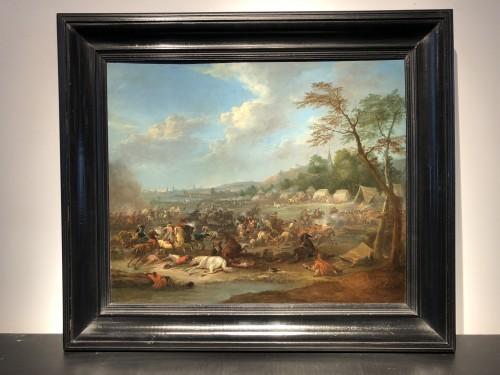 Pair of battle scenes - Karel Breydel (1678 -1744) - Paintings & Drawings Style