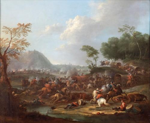 17th century - Pair of battle scenes - Karel Breydel (1678 -1744)