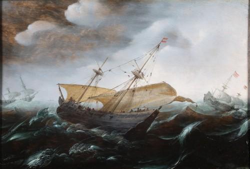 Marine  Painting - Attributed to Aert. Anthonisz