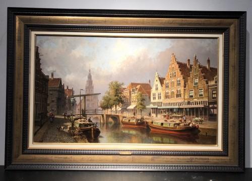Eduard Alexander Hilverdink (1846-1891) - View of the city of Alkmaar - Paintings & Drawings Style