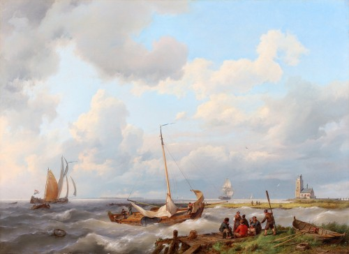 Hermanus Koekkoek le Vieux (1815-1882) - fishing boats