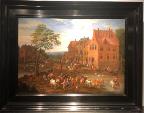 - Mathys Schoevaerts (Brussels 1665-1702) - Commedia dell-arts sur la place du village