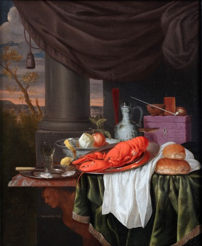 Gillis van Hulsdonck (1625 - 1669) - Still-life with a lobster