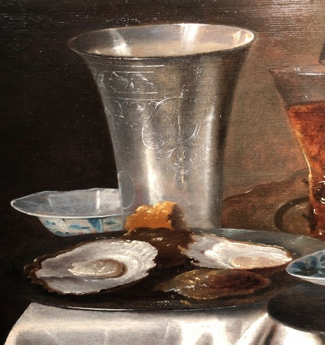 17th century - Adriaen Jansz Kraen (1619-1679) - ill life of a cup of silve