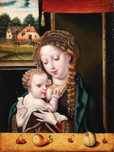 The Virgin and Child -  Flemish 16th century