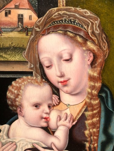 Paintings & Drawings  - The Virgin and Child -  Flemish 16th century