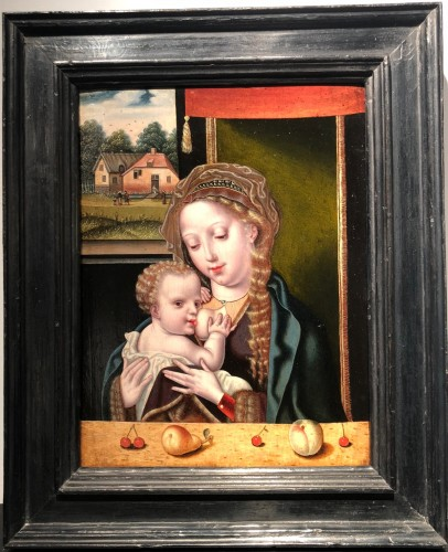 The Virgin and Child -  Flemish 16th century -