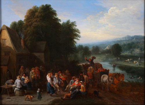 Théobald Michau (1676-1765) -  tThe harvest and The village feast