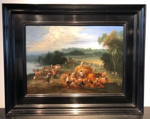 17th century - Théobald Michau (1676-1765) -  tThe harvest and The village feast