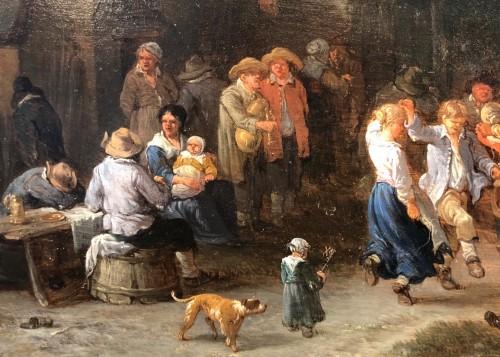 - Théobald Michau (1676-1765) -  tThe harvest and The village feast