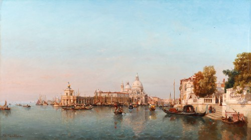 Jean Baptiste Van Moer (1819-1884) - the Grand Canal in Venice