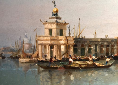 Paintings & Drawings  - Jean Baptiste Van Moer (1819-1884) - the Grand Canal in Venice