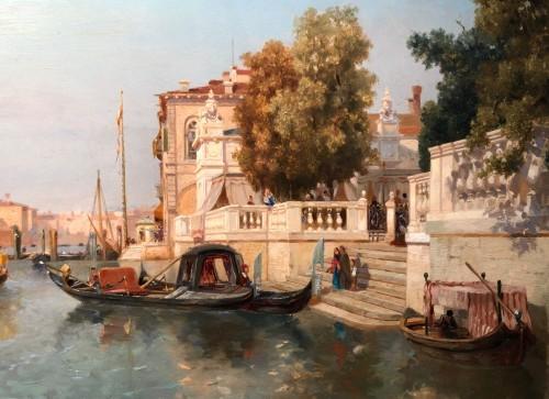 Jean Baptiste Van Moer (1819-1884) - the Grand Canal in Venice -
