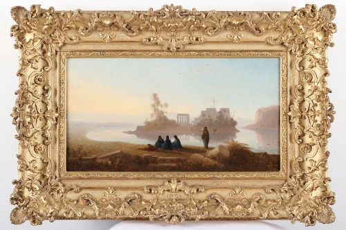 The temple of Philae - Charles Théodore Frère (1814-1888) - Paintings & Drawings Style