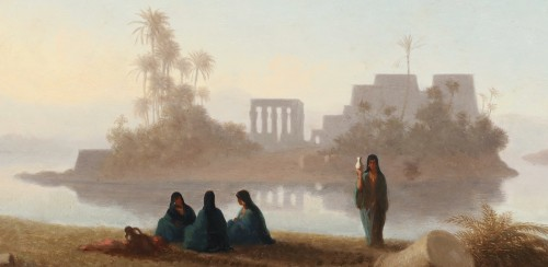 Paintings & Drawings  - The temple of Philae - Charles Théodore Frère (1814-1888)