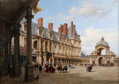 The castle of Fontainebleau - Jacques Guiaud (1810-1876)